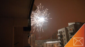 Ta noc była jasna od fajerwerków