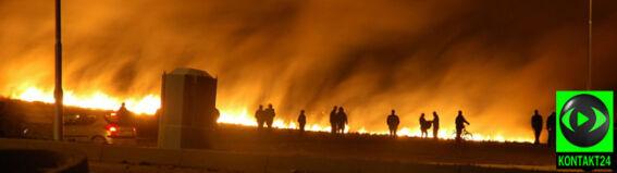 """""""W jednej chwili ogień zasyczał i objął kawał terenu"""""""