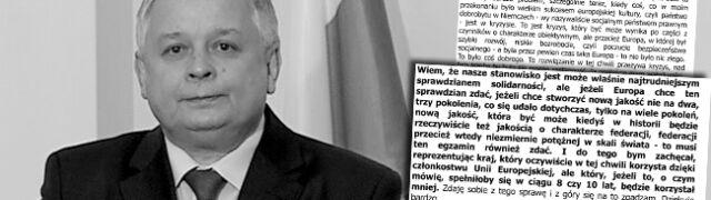 Co Lech Kaczyński mówił  w 2006 r. w Berlinie