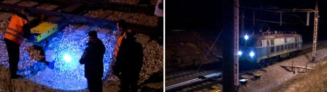 W Szczekocinach eksperyment  z udziałem dwóch pociągów
