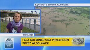 Woda we Włocławku opada (TVN24)