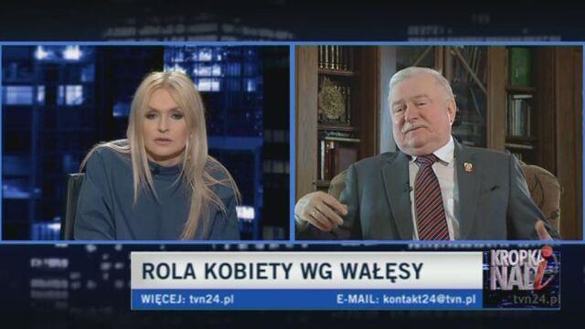 Lech Wałęsa o świętach i książce żony (TVN24)