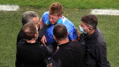 Złamany nos i oczodół De Bruyne w finale Ligi Mistrzów