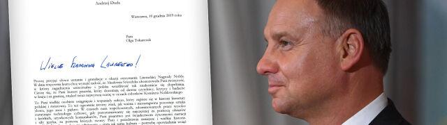 Prezydent napisał do Olgi Tokarczuk