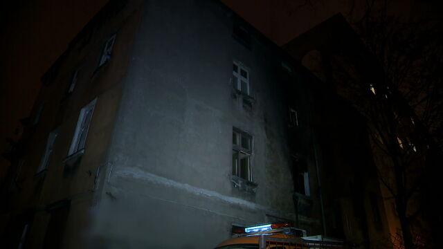 Pożar kamienicy w Łodzi. Jedna osoba nie żyje