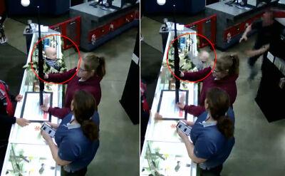 Utah: Dziecko spadło z lady w sklepie. Uratował je kierownik sklepu
