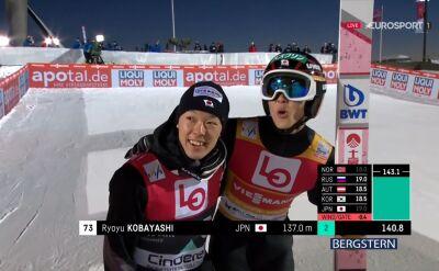 Skok Ryoyu Kobayashiego z kwalifikacji do konkursu w Lillehammer