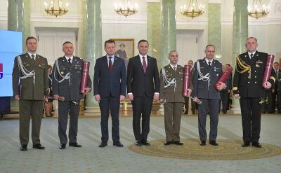 Prezydent wręczył nominacje generalskie i admiralskie