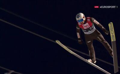Skok Kamila Stocha z kwalifikacji do konkursu w Lillehammer