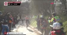 Atak Van der Poela na 12 km do mety Strade Bianche