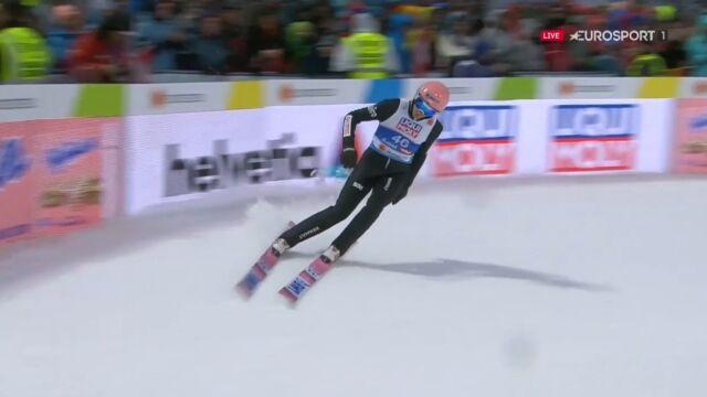 Skok Dawida Kubackiego z 2. serii konkursu na skoczni normalnej