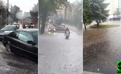 Woda po kolana, zalane ulice. Pogodowe relacje Reporterów 24