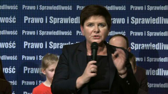 Beata Szydło znowu w akcji