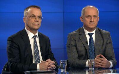 """Sławomir Neumann, Jarosław Sellin, Łukasz Ługowski i Jan Wróbel w """"Faktach po Faktach"""""""