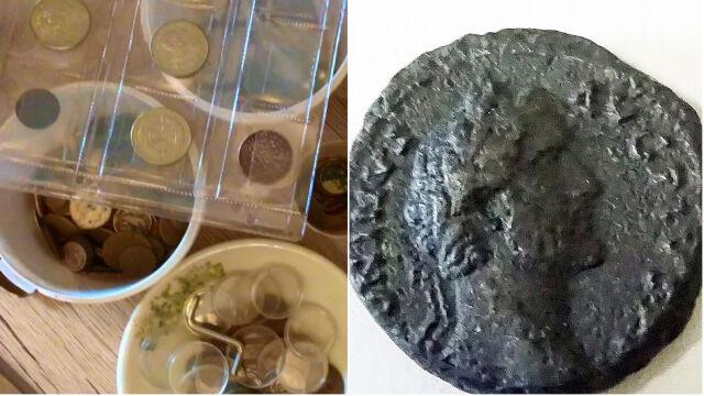 Srebrne monety z XVII i XVIII wieku oraz rzymski denar. Kolekcję przejęli policjanci