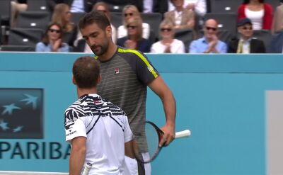 Cilić przegrał w drugiej rundzie turnieju ATP Londyn