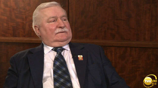 """Lech Wałęsa był gościem magazynu """"Świat"""" w TVN24 Biznes i Świat"""