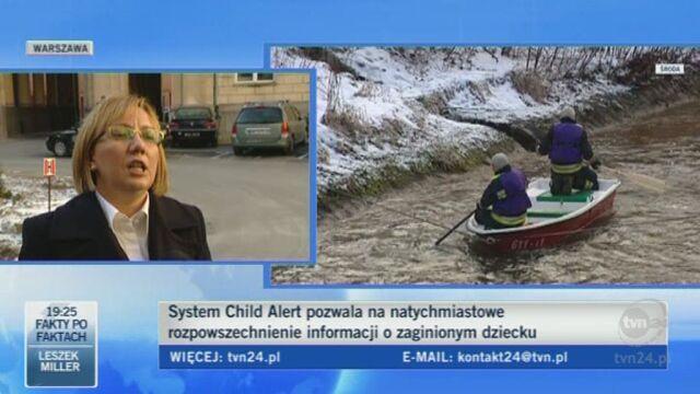Rzeczniczka MSW Małgorzata Woźniak o systemie Child Alert/TVN24