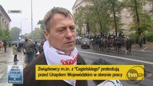 """- Demonstracje mają to do siebie, że nieraz wymykają się spod kontroli – mówi Marek Tyliński, wiceprzewodniczący zakładowej """"Solidarności"""""""