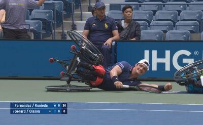 Wypadek podczas półfinału debla na wózkach w US Open