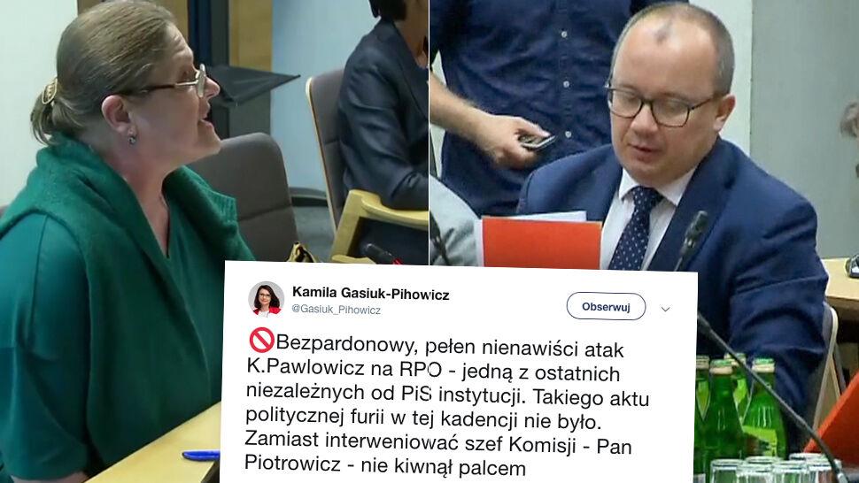 """""""Takiego aktu politycznej furii w tej kadencji nie było"""". PO porównuje Pawłowicz do """"małej Emi"""""""