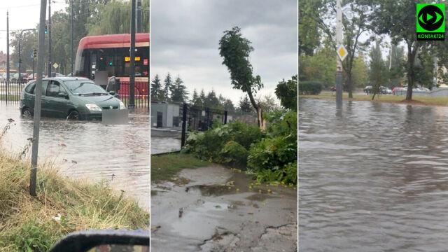 Połamane drzewa, zalane ulice. Burzowy poniedziałek w Polsce