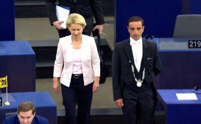 Ursula von der Leyen przed debatą w europarlamencie