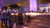 Demonstranci starli się z policją w Hongkongu