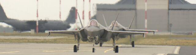 F-35 wylądowały pod Poznaniem