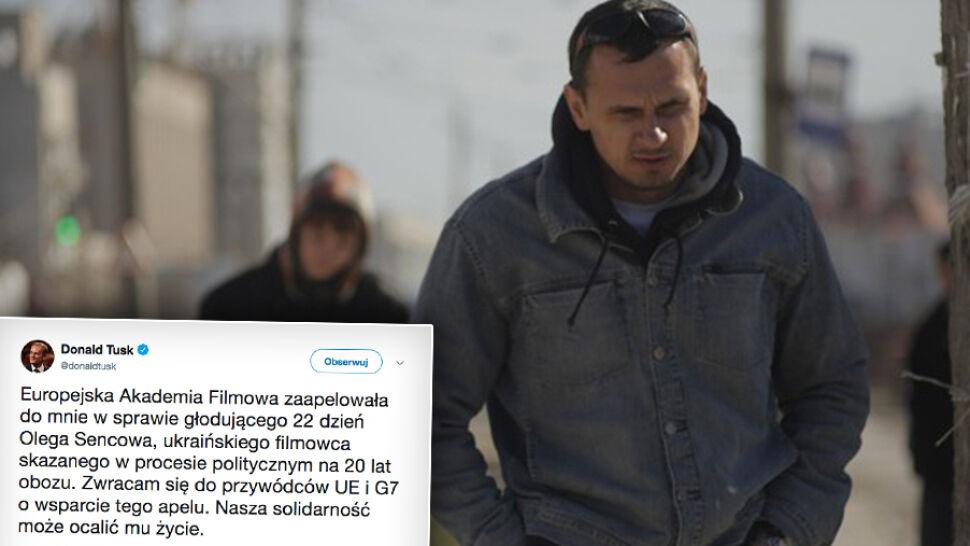 """""""Nasza solidarność może ocalić mu życie"""". Tusk apeluje w sprawie skazanego reżysera"""