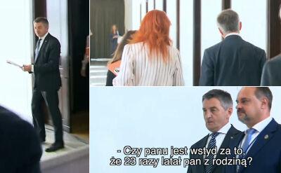 Marszałek Sejmu milczy w sprawie lotów rządowym samolotem z rodziną