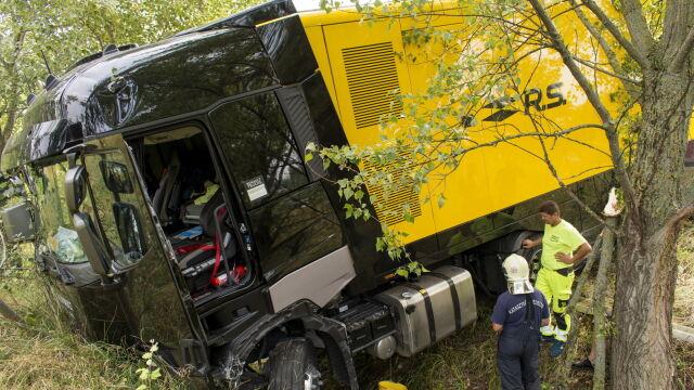 Wypadek ciężarówki ekipy Formuły 1 na Węgrzech