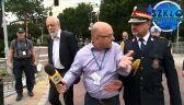 Funkcjonariusz Straży Marszałkowskiej odpychał reportera