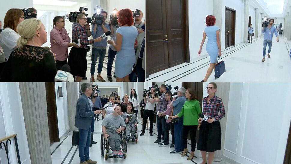 """Posłanka PiS ucieka protestującym. """"Nie będę z panią rozmawiała"""""""