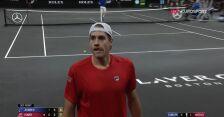 Isner wygrał 2. seta w starciu ze Zverem w Laver Cup