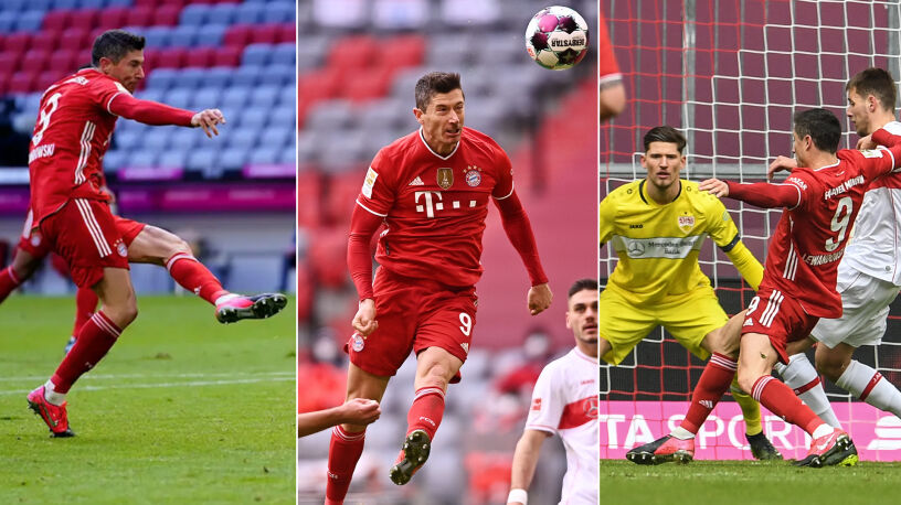 Prawą, lewą nogą i głową. Tak Lewandowski pobił swój życiowy rekord w Bundeslidze