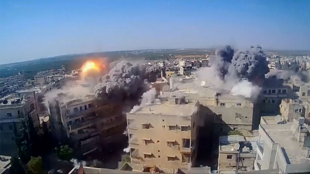 Ciężkie bombardowania terenów opanowanych przez rebeliantów