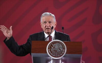 Andres Manuel Lopez Obrador podczas prezentacji nowej gwardii narodowej