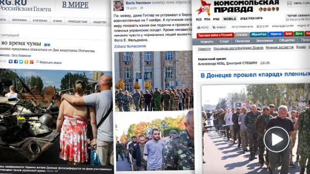 """""""Parada hańby"""" w Doniecku na łamach rosyjskich mediów. """"Ci ludzie zabili w nas Ukraińców!"""""""