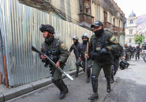 Policja na ulicach La Paz