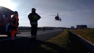 Wypadek na A4: po rannych przyleciały śmigłowce LPR