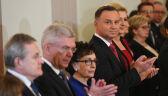 Andrzej Duda odznaczył w poniedziałek Orderem Orła Białego Grażynę Świątecką i Andrzeja Nowaka