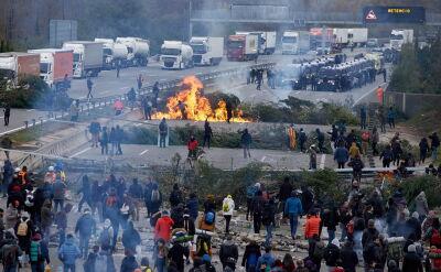 Policja starła się z separatystami blokującymi autostradę