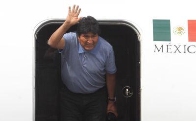Evo Morales przyleciał do Meksyku