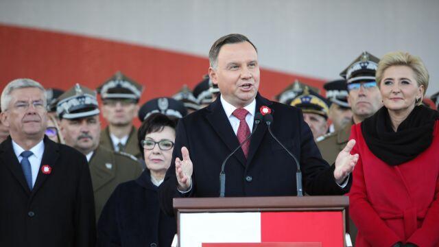 Andrzej Duda: jesteśmy Polakami i obowiązki mamy polskie. Od prawa do lewa