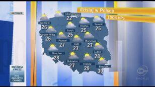 Nad Polskę zmierza gorące i wilgotne powietrze, które wywoła burze (TVN24)