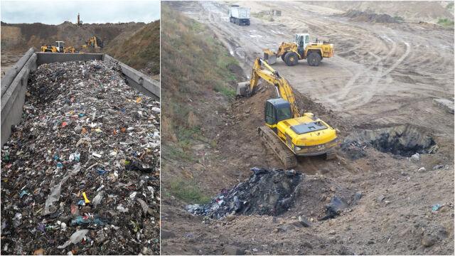 Chcieli zakopać ponad 100 ton odpadów na terenie żwirowni. Złapani na gorącym uczynku