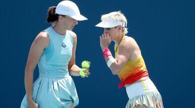 Świątek zaczęła turniej w Indian Wells od wygranej w deblu