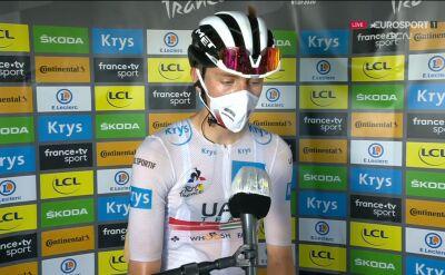 Pogacar po wygraniu 15. etapu Tour de France