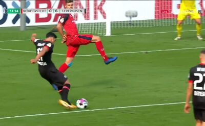 Puchar Niemiec. Nordersted - Bayer Leverkusen 0:5 i 0:6. Gole Charles Aranguiz i Nadiem Amiri